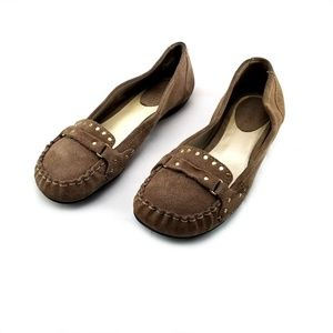 Bakers Brown Suede Leather Loafer Flats size 8